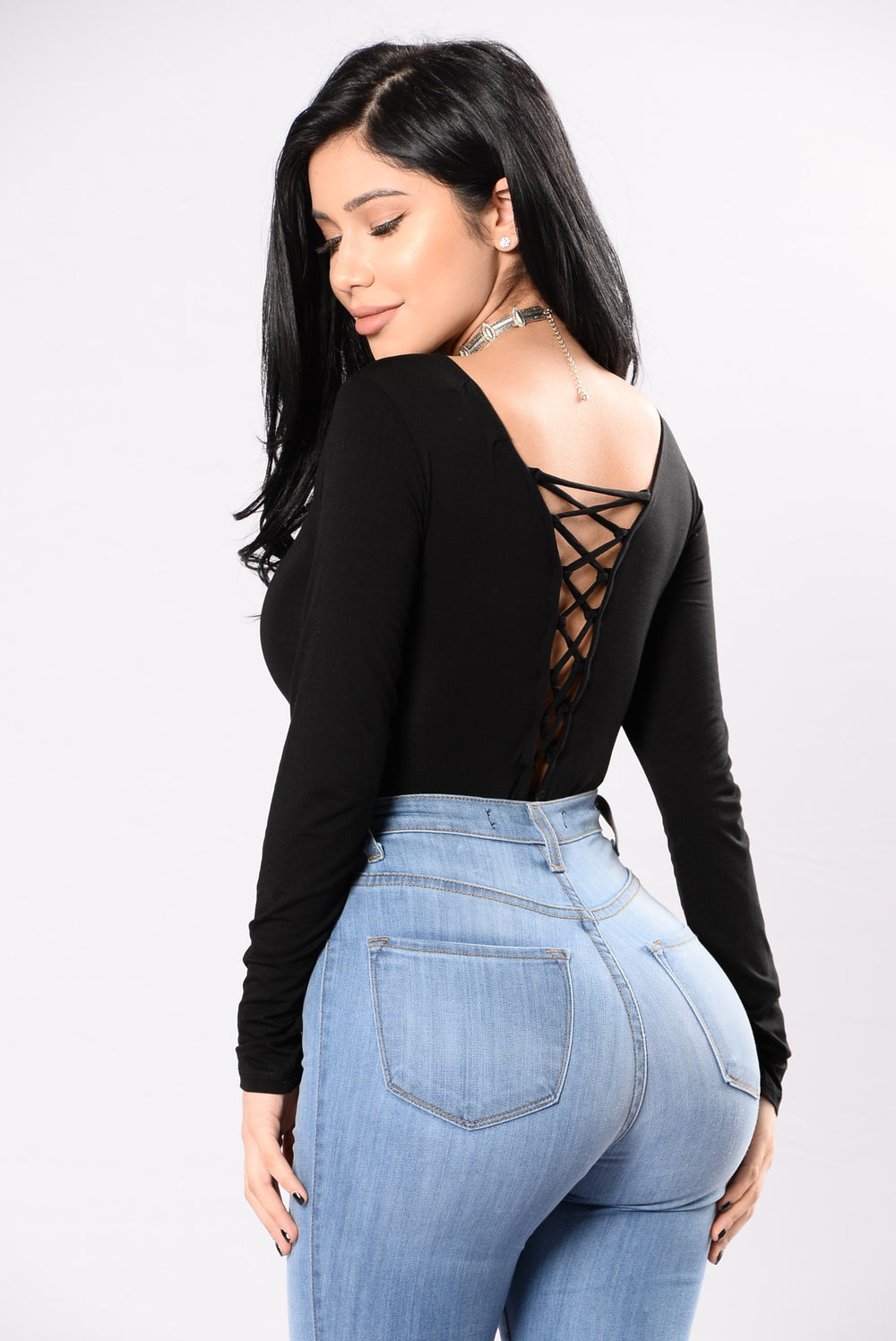 Both Sides Of The Story Bodysuit - Black