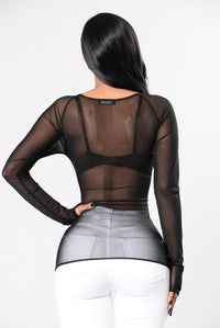 Enchant Me Top - Black