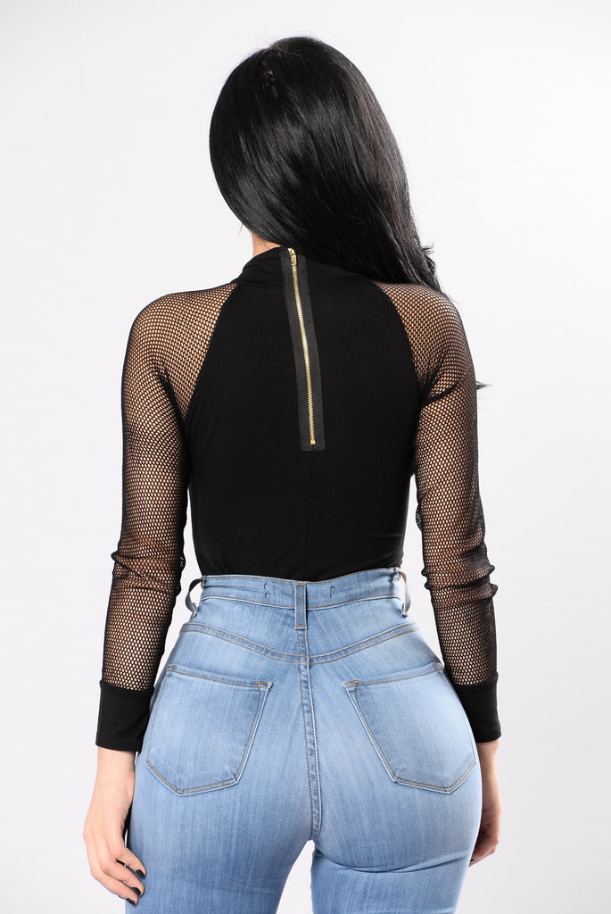 No More Drama Bodysuit - Black