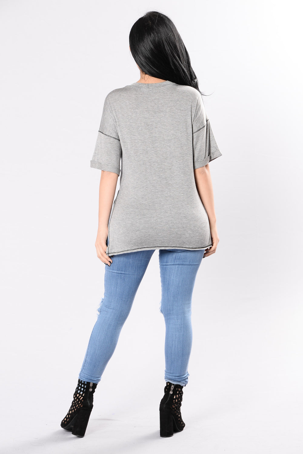 Incomplete Top - Grey