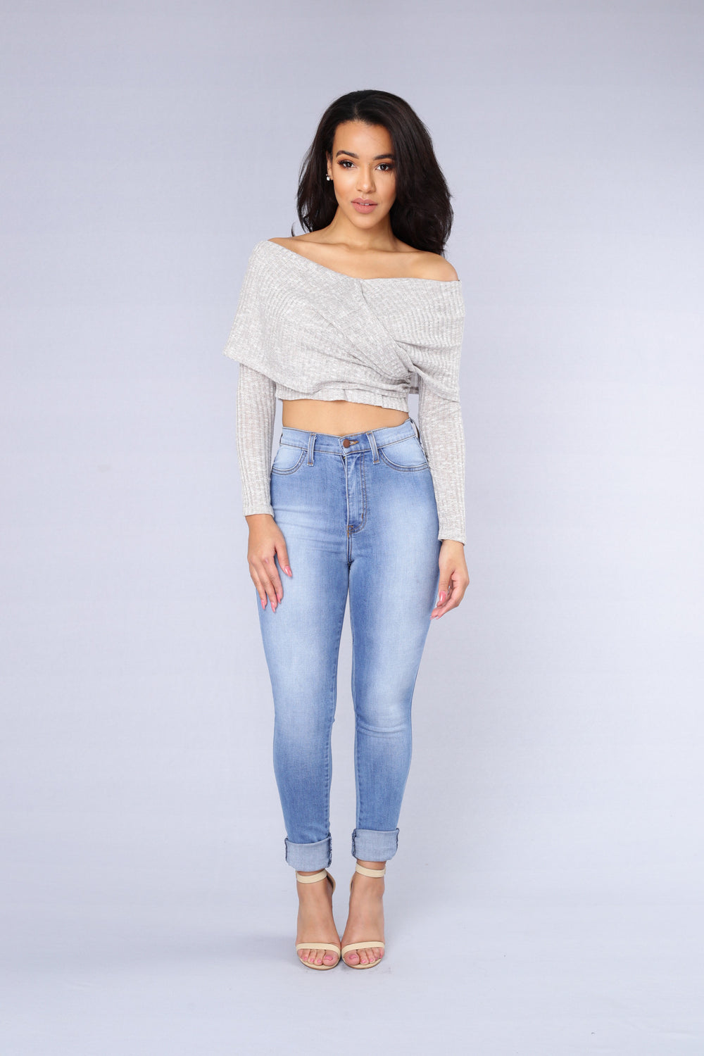 Grotto Top - Light Grey