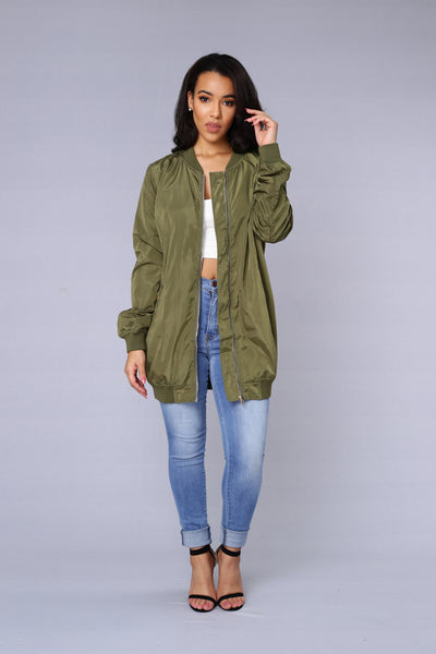 All Eyes On Me Jacket - Olive