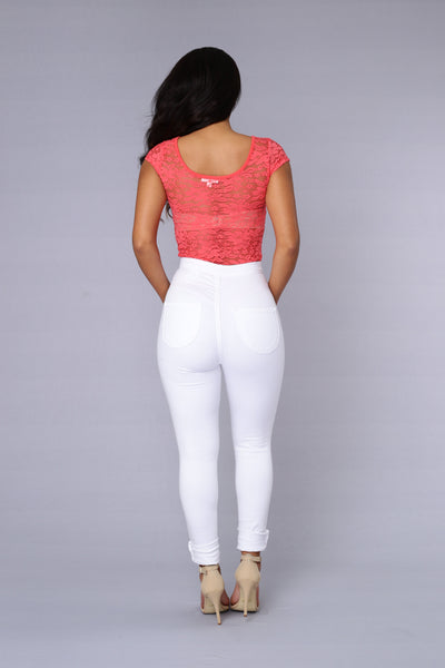 Samantha Bodysuit - Hot Coral