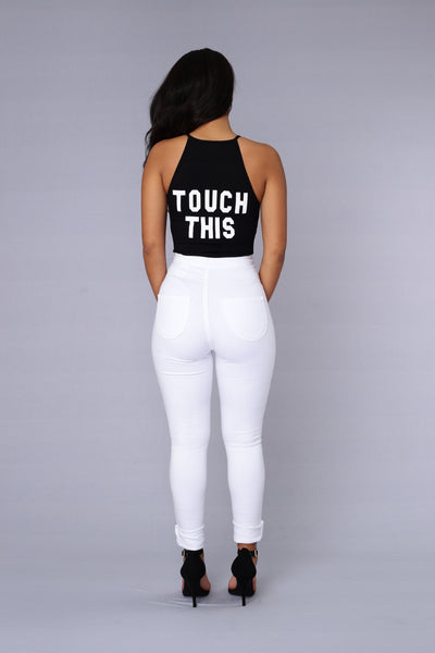 Can't Touch This Bodysuit - Black