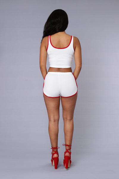 Hot Shot Top - Ivory/Red