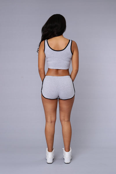 Hot Shot Top - Heather Grey/Black