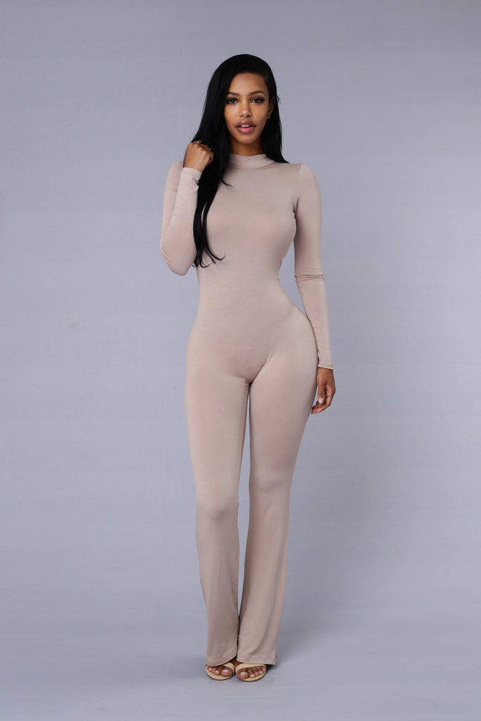 Underneath it All Jumpsuit - Sand