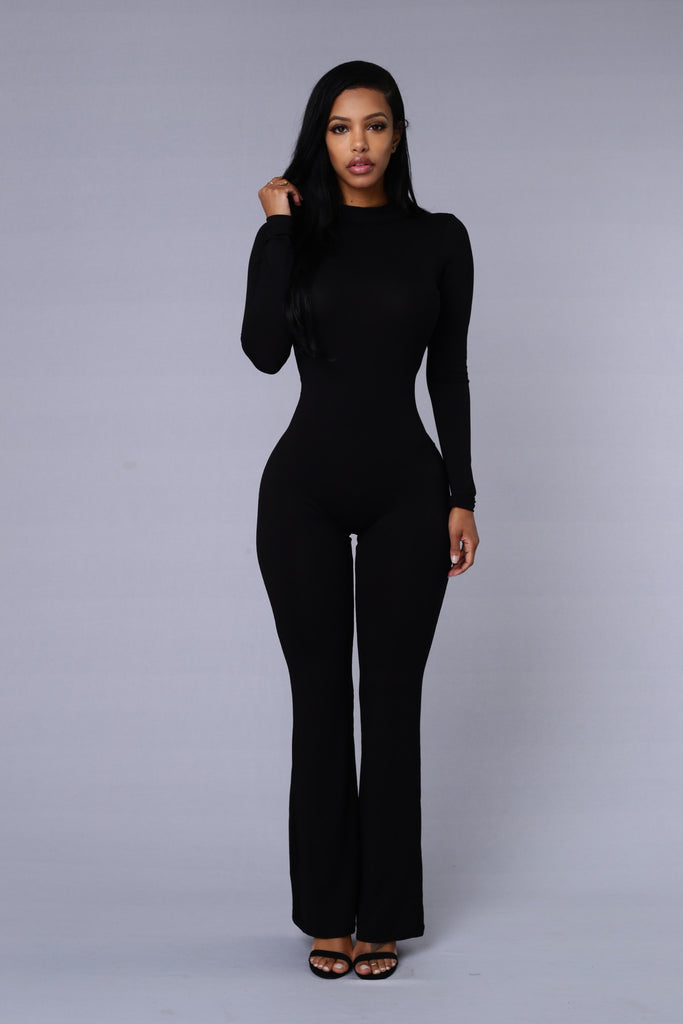 Underneath it All Jumpsuit - Black