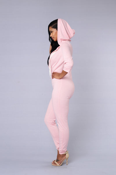 Hooligan Jumpsuit - Dusty Pink