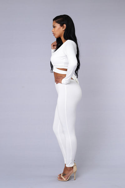 Touch Me Tease Me Legging - White