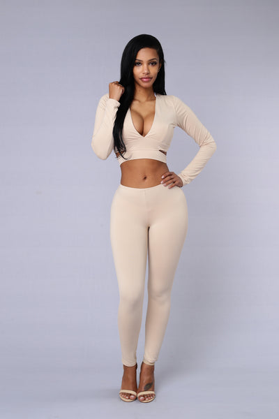Touch Me Tease Me Legging - Taupe