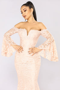 Remarkable Lace Dress - Blush