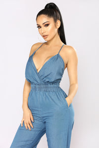 Ocean View Chambray Jumpsuit - Denim