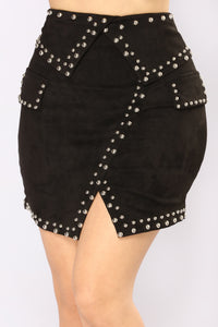XOXO Studded Mini Skirt - Black