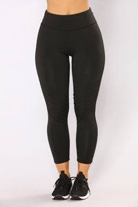 The Run Around Active Leggings - Black
