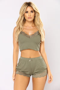 Mimi's Time PJ Set - Olive