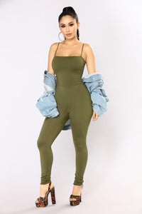 Switch Gears Jumpsuit - Olive