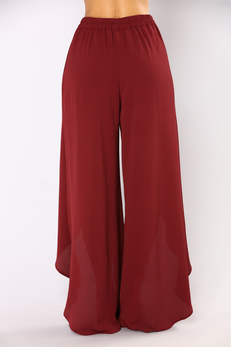 Mind Games Slit Pants - Rust