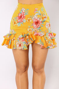 Tea In The Garden Floral Set - Mustard/Multi