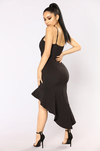 Alayna Asymmetrical Dress - Black