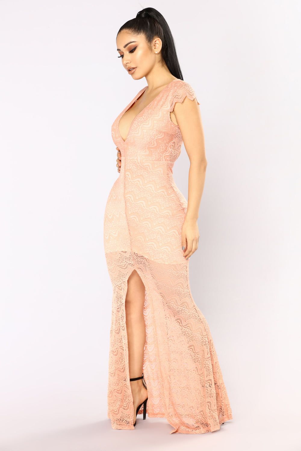 Get With You Maxi Dress - Mauve