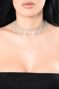 Drop Everyone For You Choker - Silver