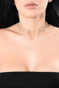 Try And See What I Want Choker - Gold
