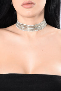 See How You Feel Choker - Silver