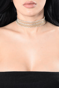 See How You Feel Choker - Gold