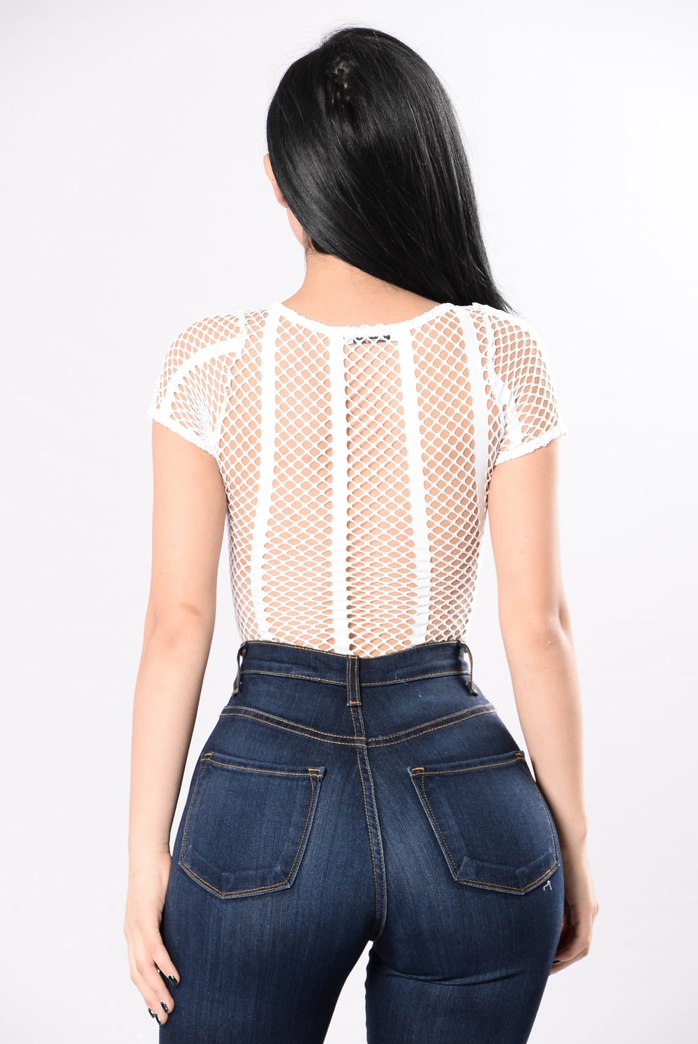 Through The Lines Bodysuit - White