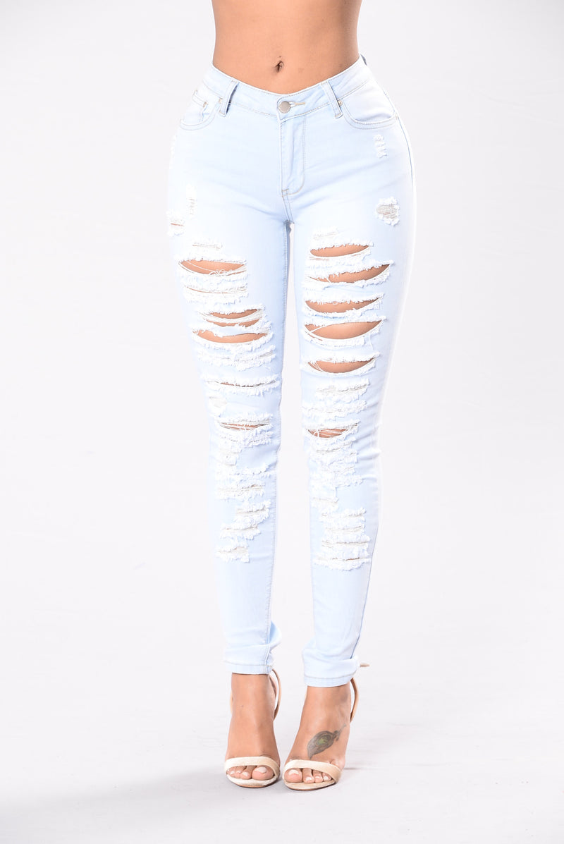 Face The Facts Jeans - Light Blue