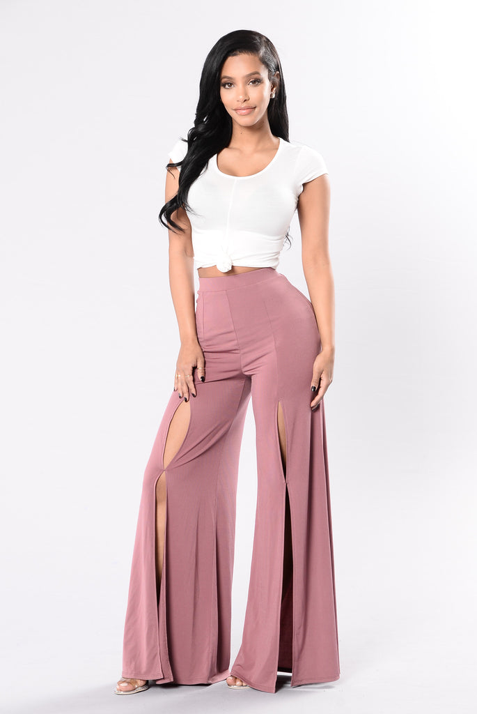 Tangled In The Willows Pants - Marsala