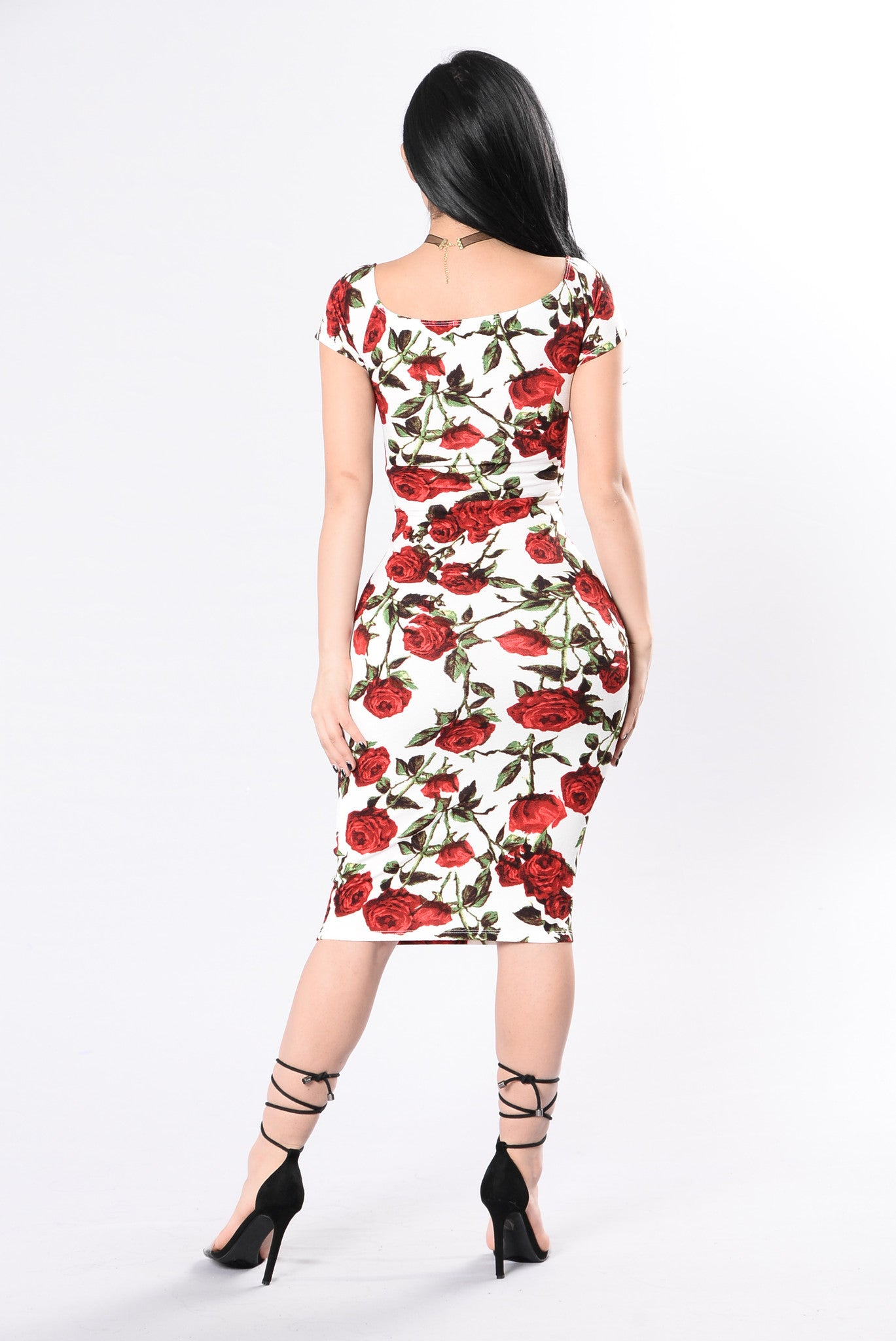 Be My Valentine Dress   Ivory/Red