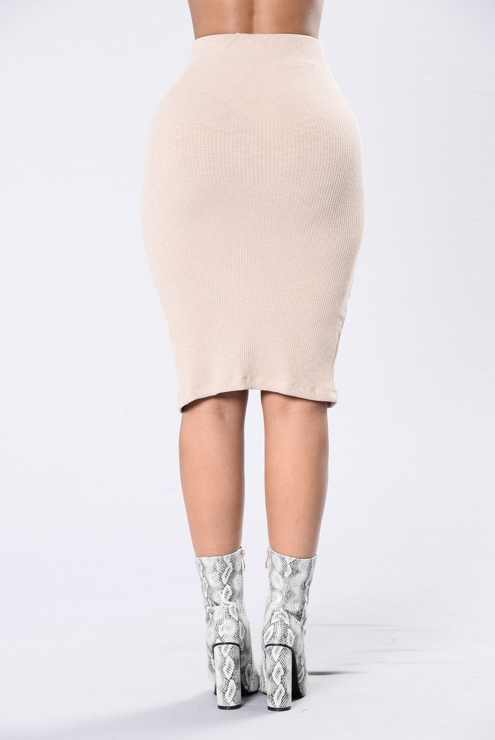 Break Hearts For A Living Skirt - Taupe