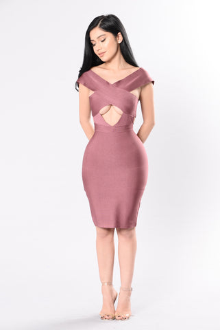 Admire Me Dress - Red Brown