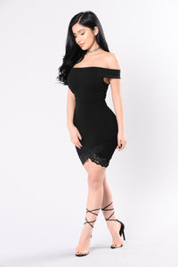 Doing It For A Thrill Dress - Black