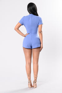 One More Chance Romper - Blue Jean