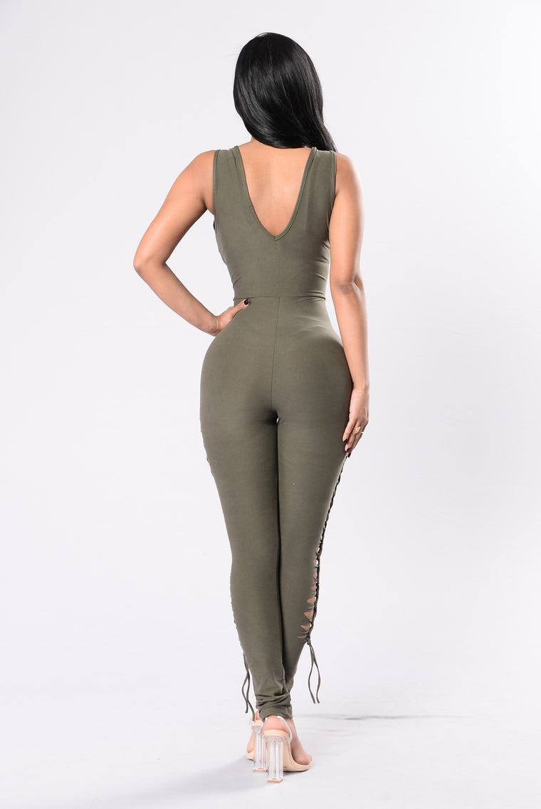Fly Gal Jumpsuit - Olive