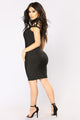 Marissa Bandage Dress - Black