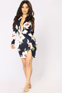 Sugar Grove Floral Dress - Navy Floral Angle 1