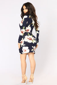 Sugar Grove Floral Dress - Navy Floral Angle 4
