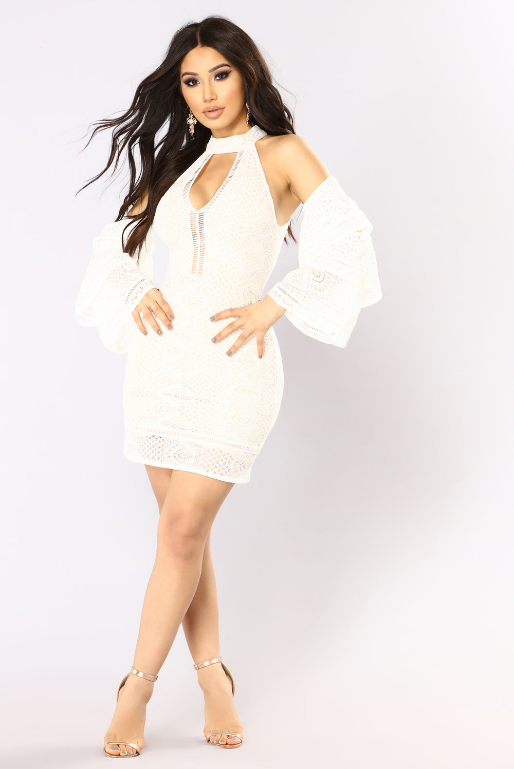 Refined Lace Dress - Ivory