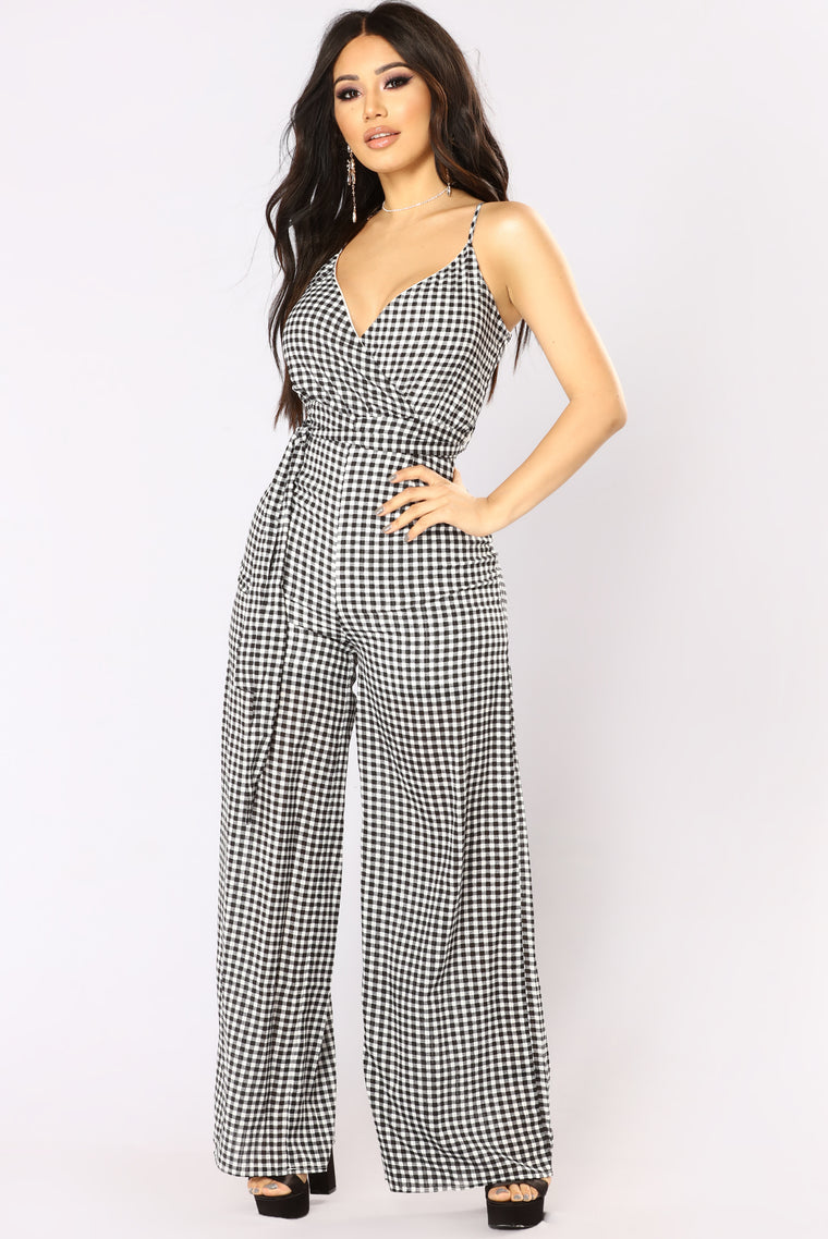 Can't Be Tied Down Jumpsuit - Black