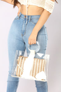 Transparency Tells Tote - White