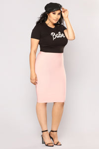 Charmer Bandage Skirt - Light Pink