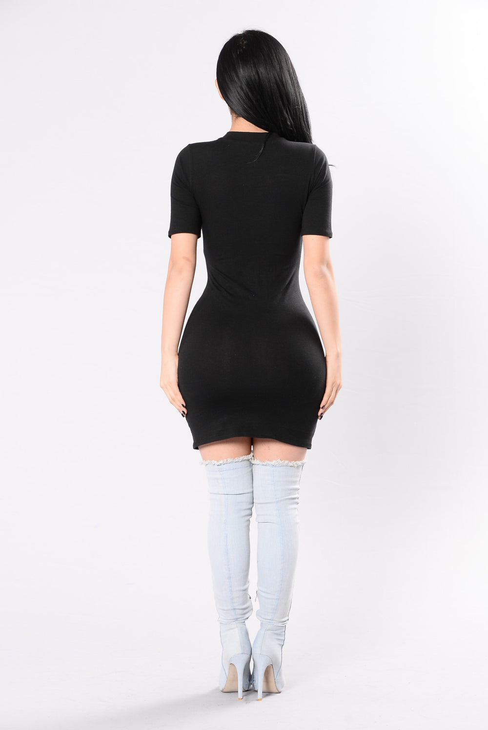 Rising Like Smoke Dress - Black