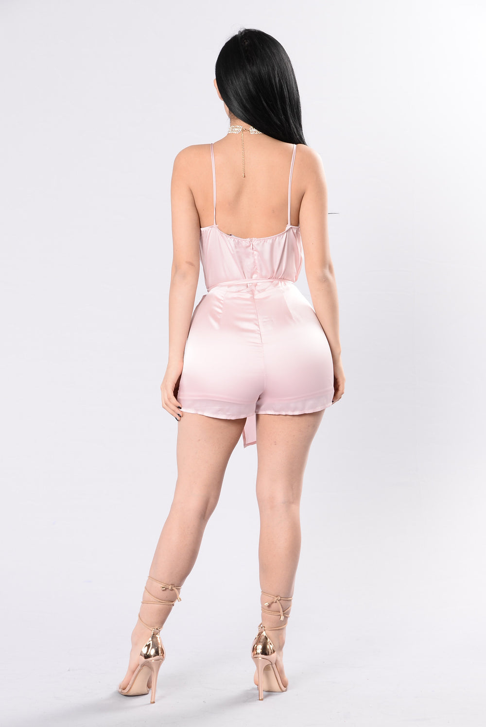 Stealing My Heart Romper - Baby Pink