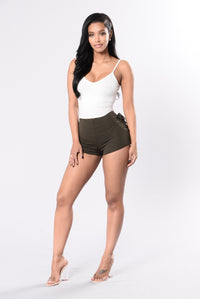 Out of Nowhere Shorts - Olive Angle 6