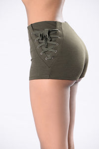 Out of Nowhere Shorts - Olive Angle 4