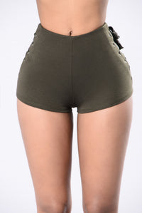Out of Nowhere Shorts - Olive Angle 1